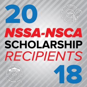 2018 NSSA-NSCA Scholarship Recipients